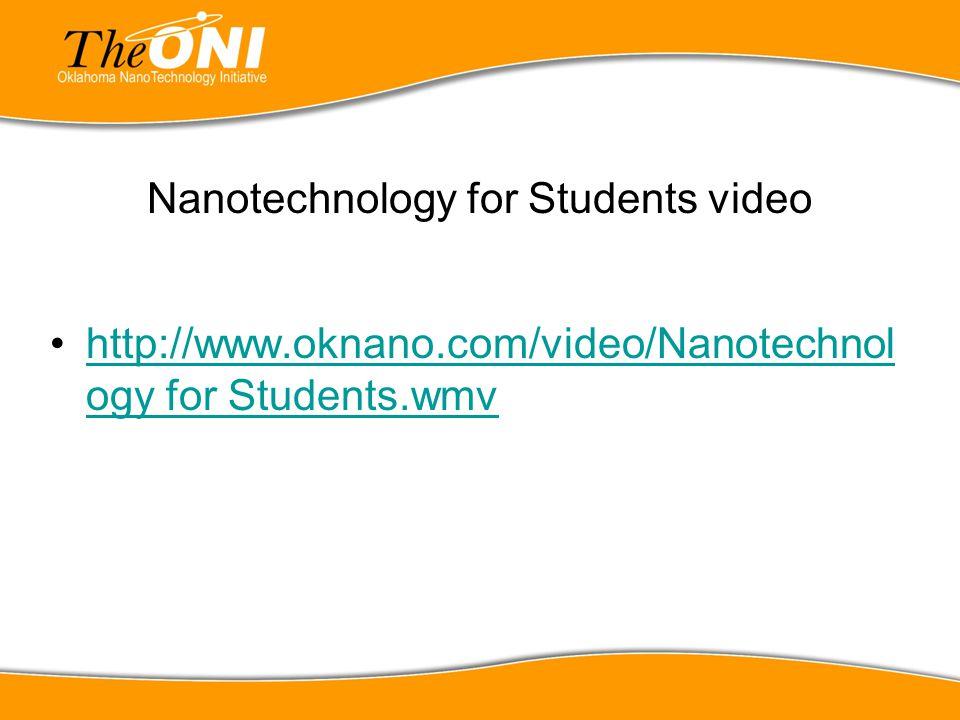 Nanotechnology for Students video