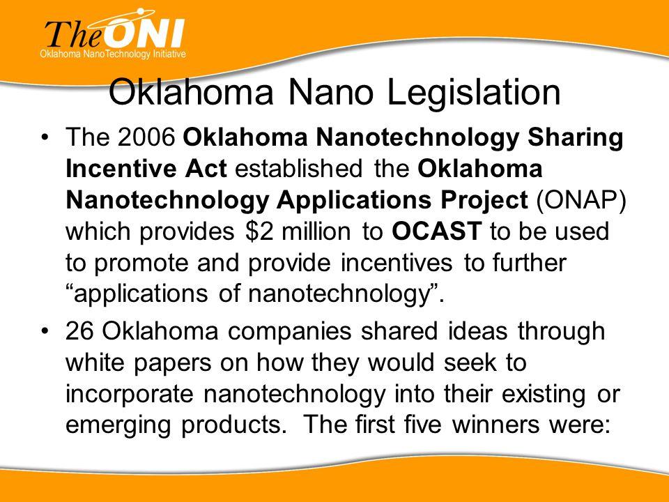 Oklahoma Nano Legislation