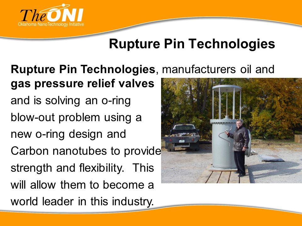 Rupture Pin Technologies