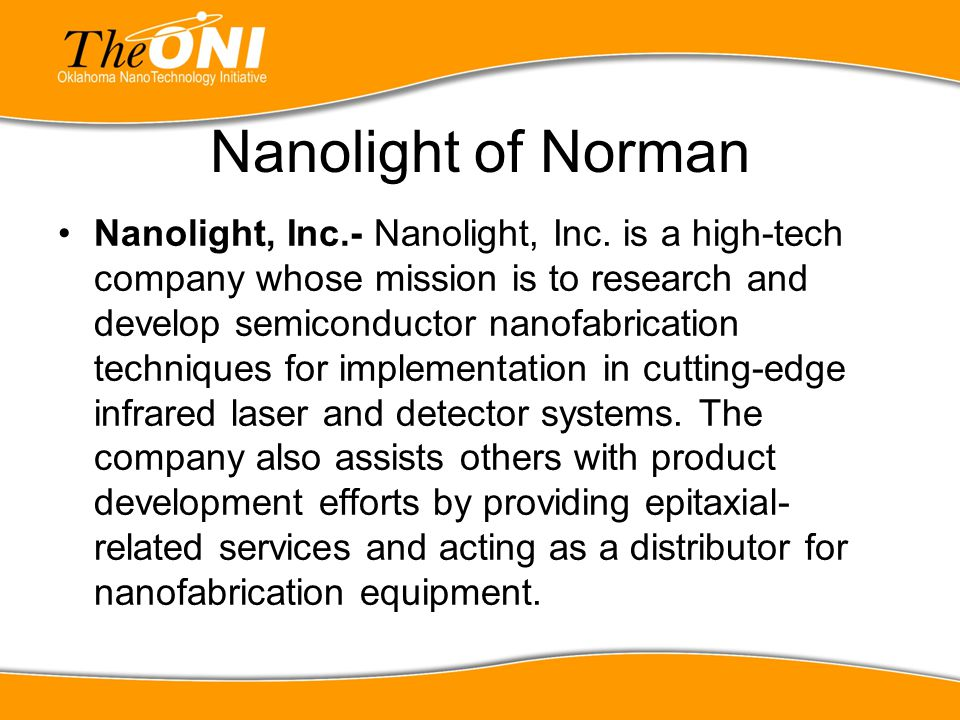 Nanolight of Norman