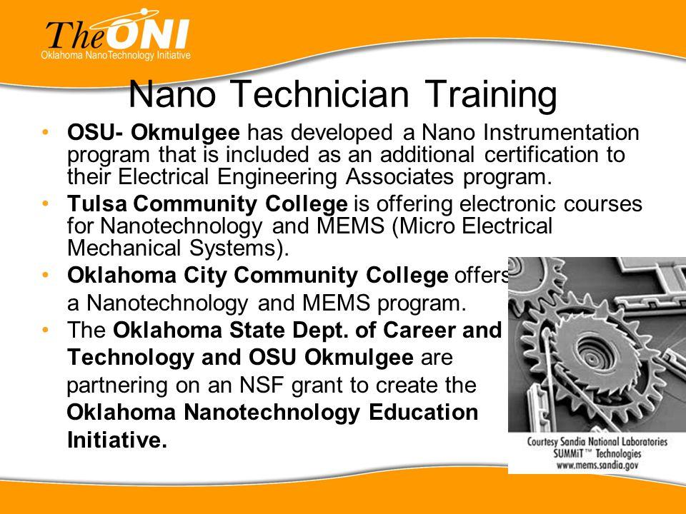 Nano Technician Training