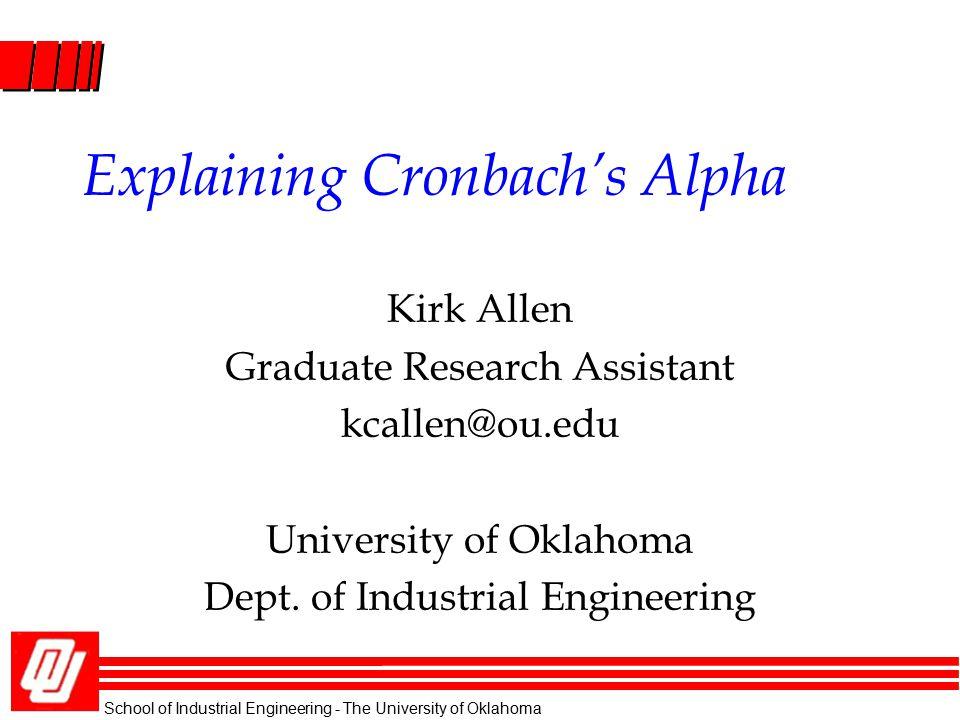 Explaining Cronbach's Alpha