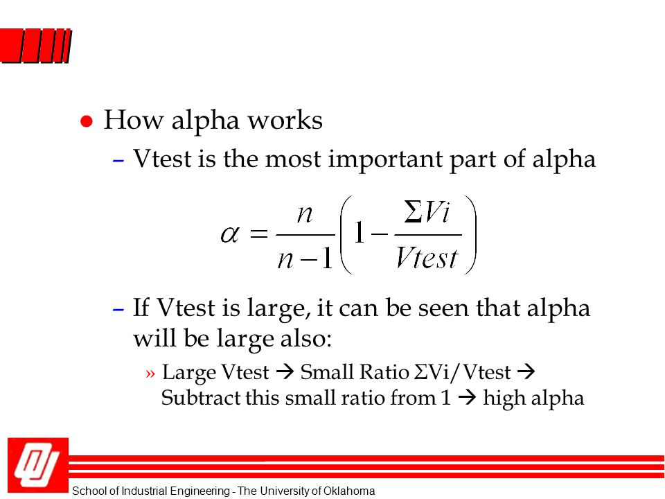 How alpha works Vtest is the most important part of alpha