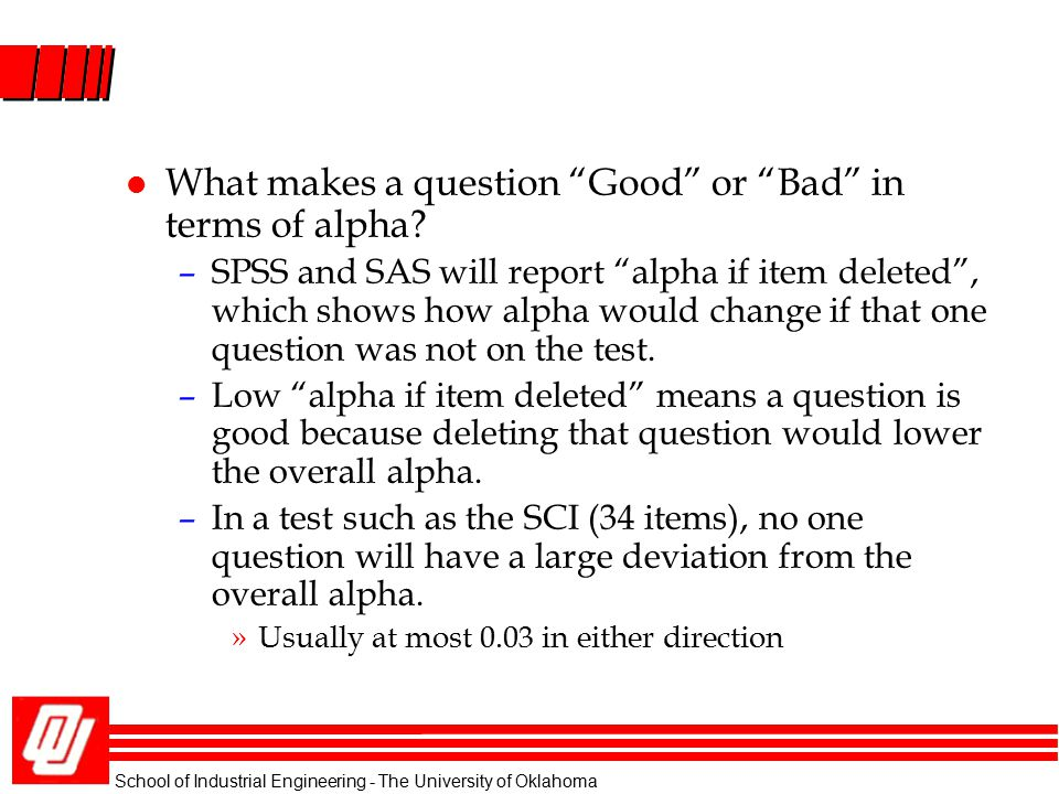 What makes a question Good or Bad in terms of alpha