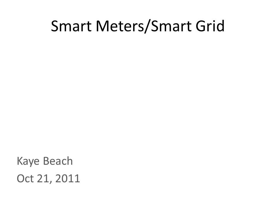 Smart Meters/Smart Grid