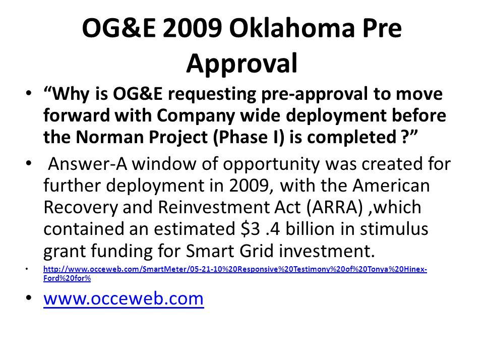 OG&E 2009 Oklahoma Pre Approval