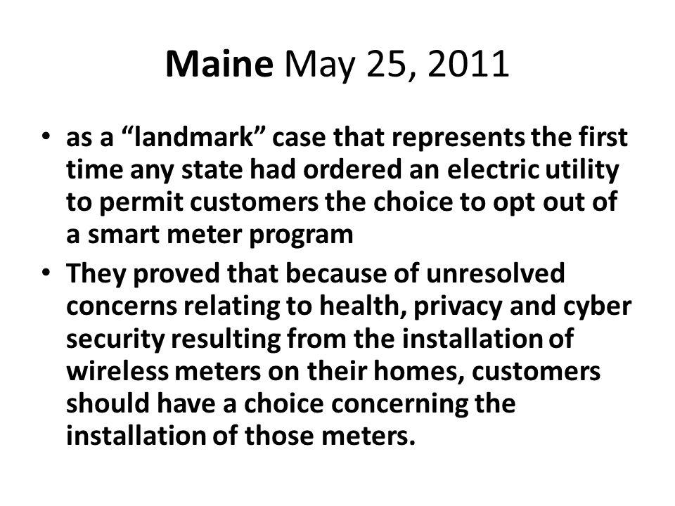 Maine May 25, 2011