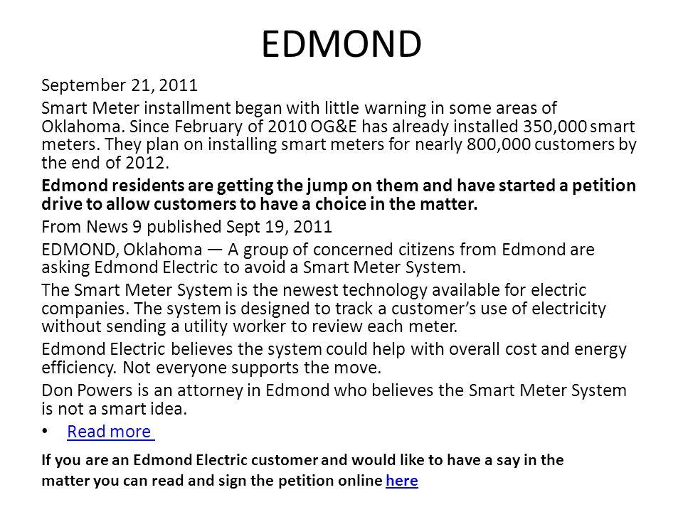 EDMOND September 21, 2011.