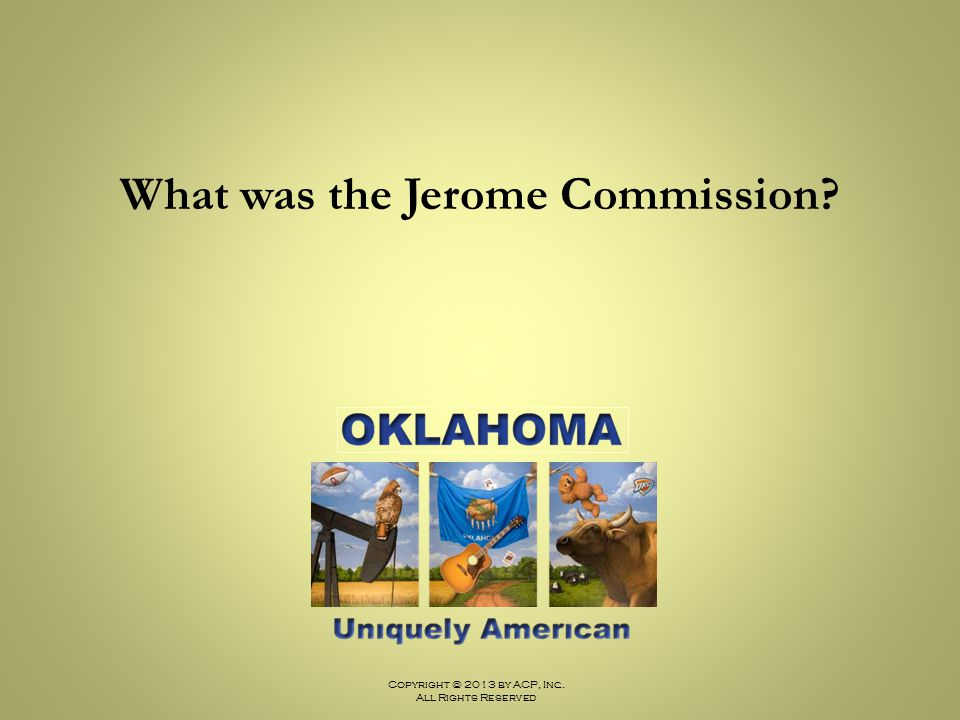 What was the Jerome Commission