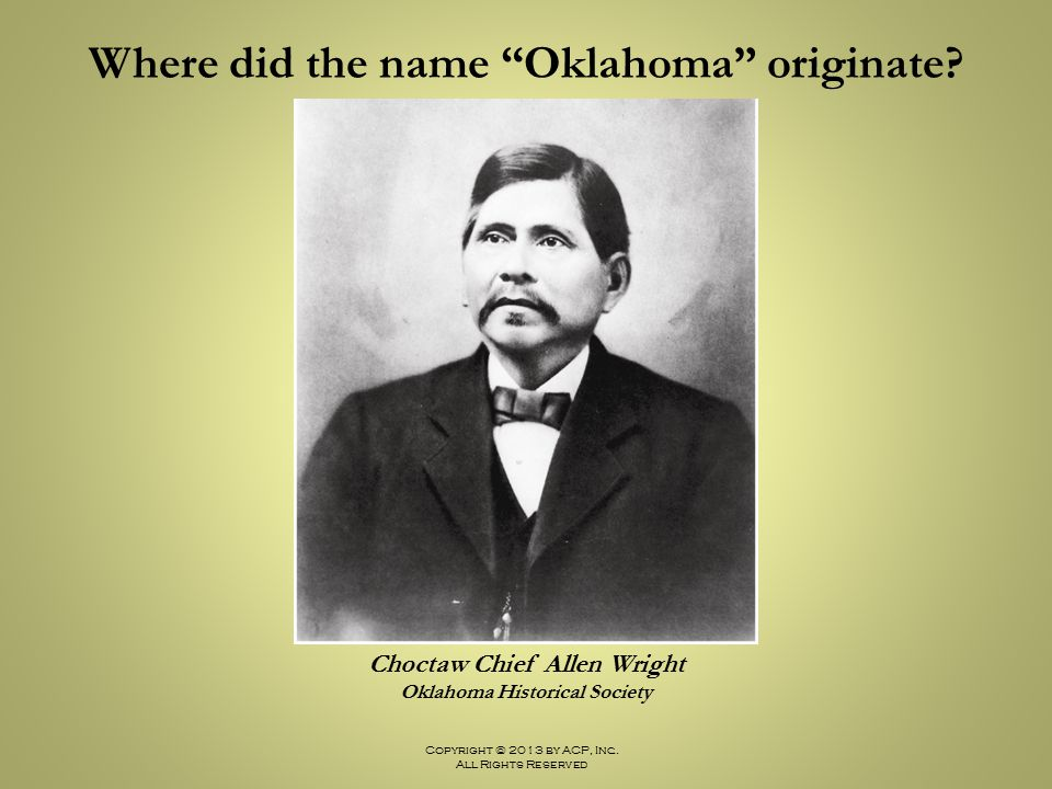 Where did the name Oklahoma originate