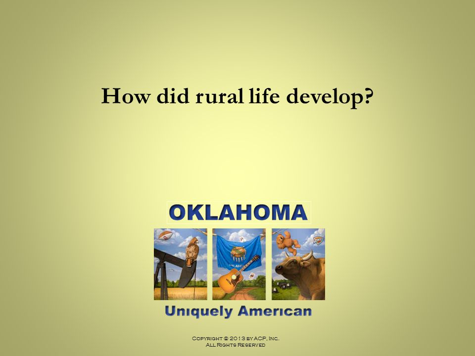 How did rural life develop