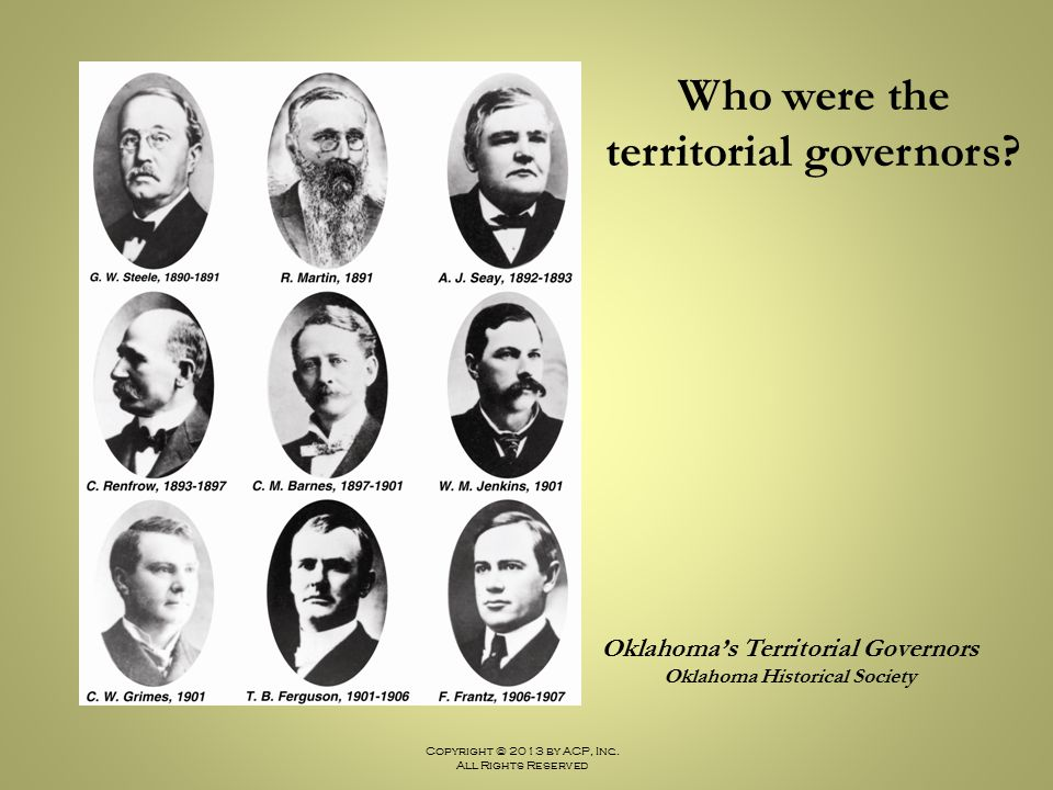 Who were the territorial governors
