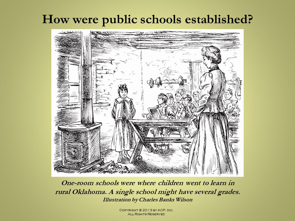How were public schools established