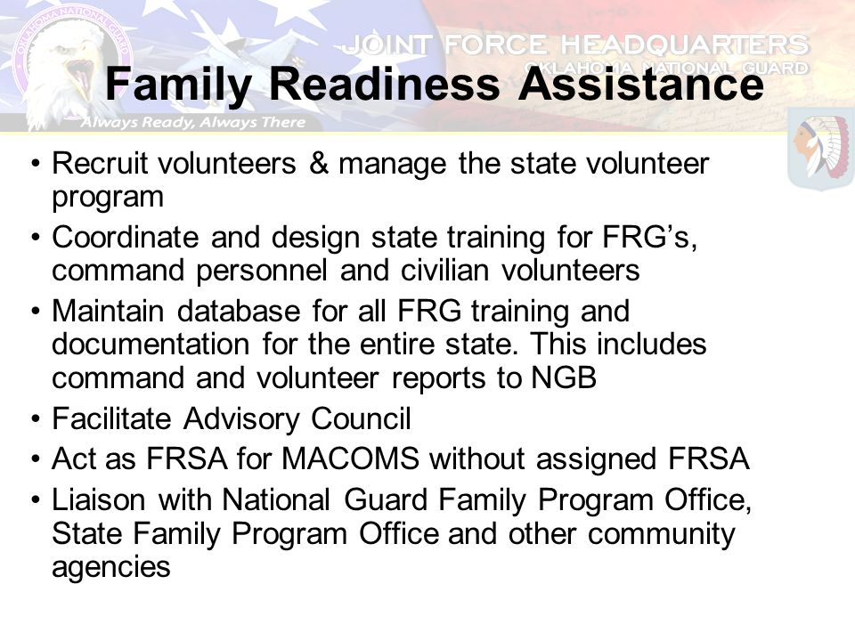 Family Readiness Assistance