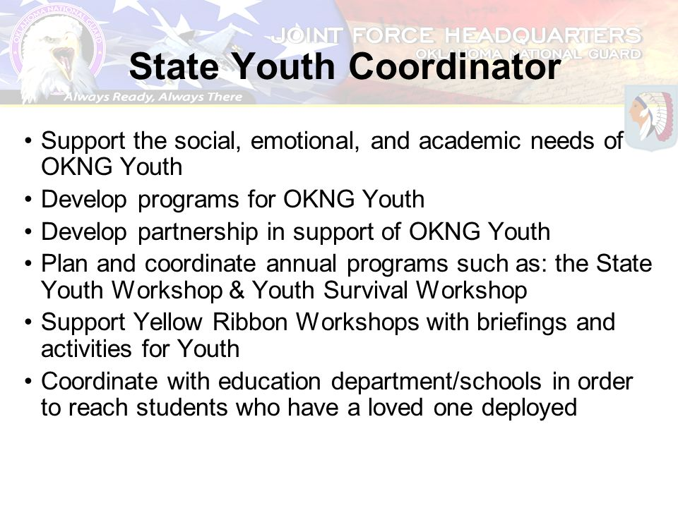 State Youth Coordinator