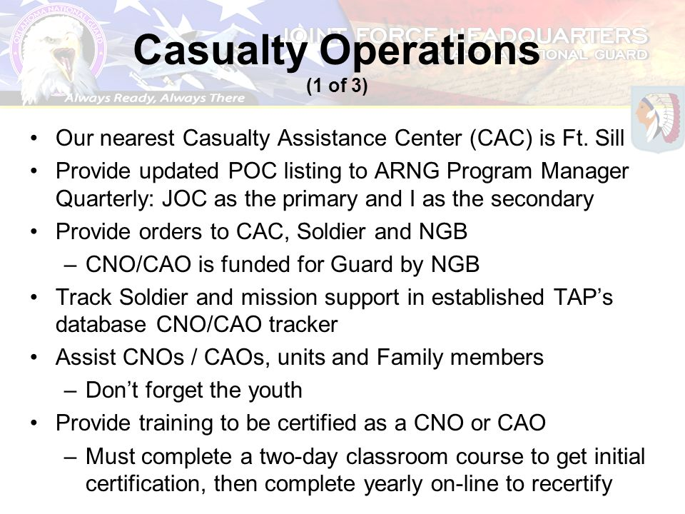Casualty Operations (1 of 3)