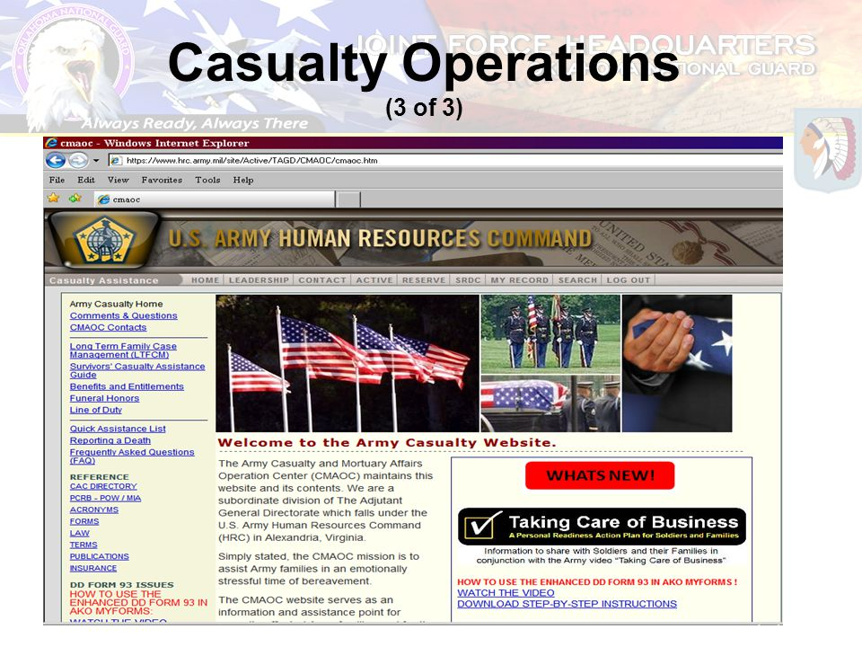 Casualty Operations (3 of 3)