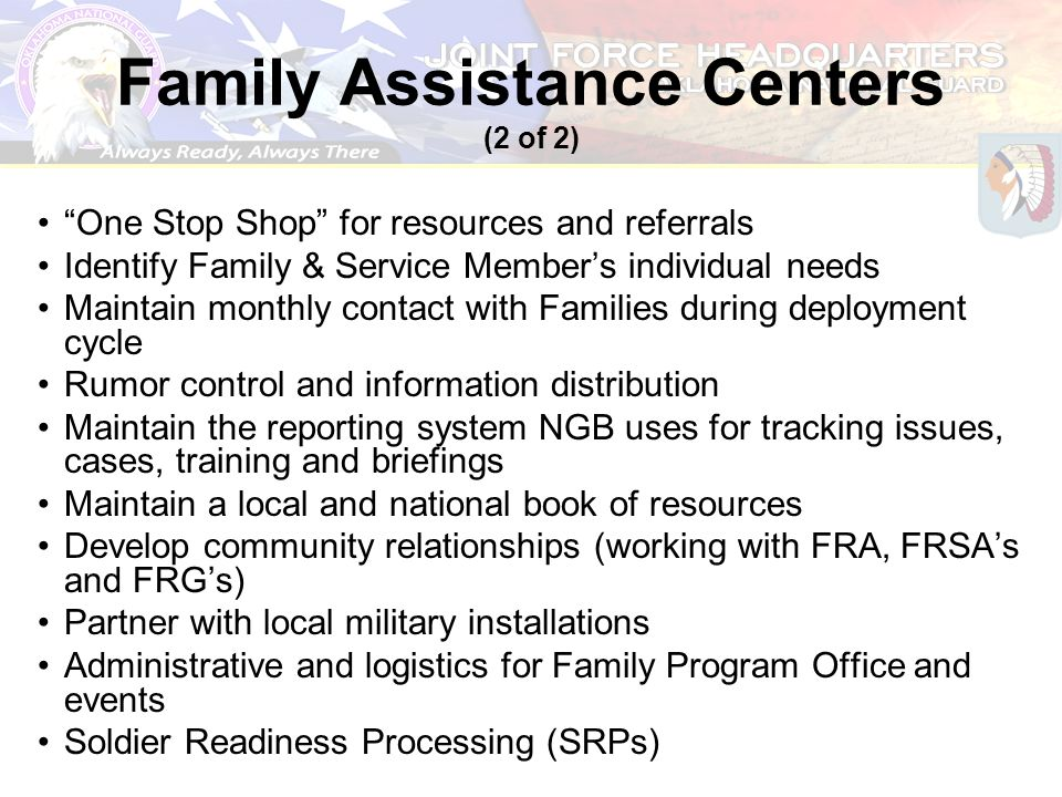 Family Assistance Centers (2 of 2)