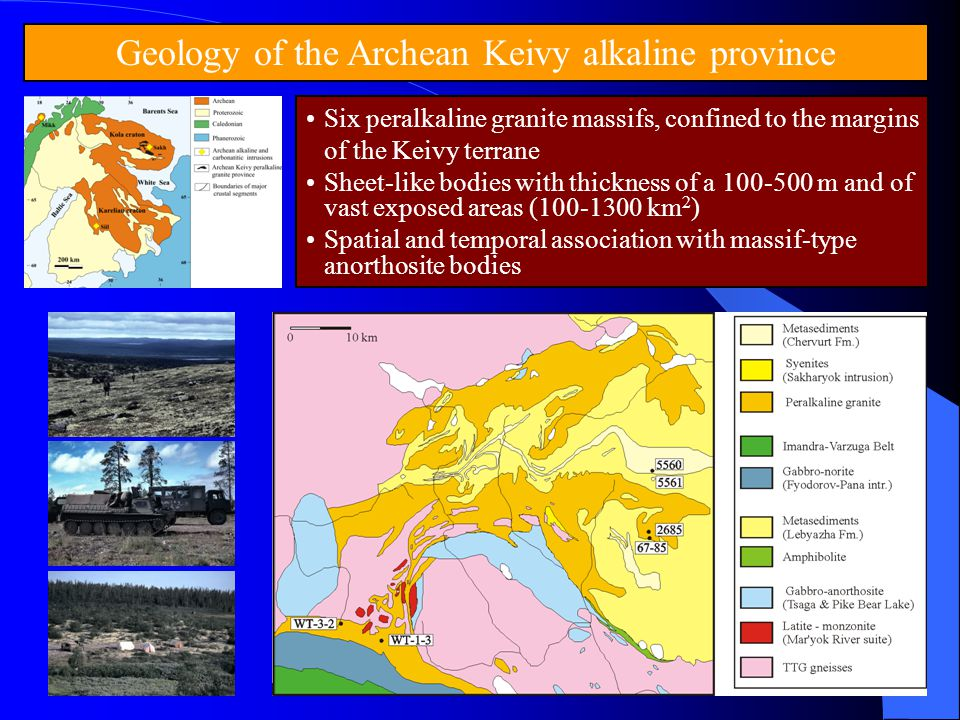 Geology of the Archean Keivy alkaline province