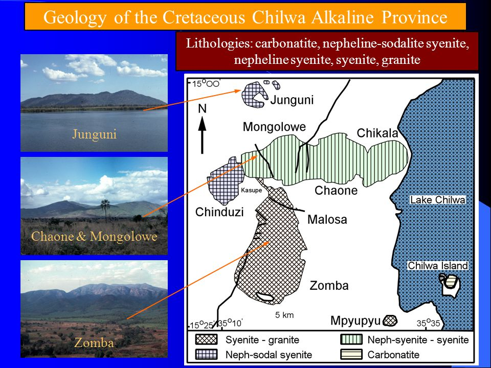 Geology of the Cretaceous Chilwa Alkaline Province