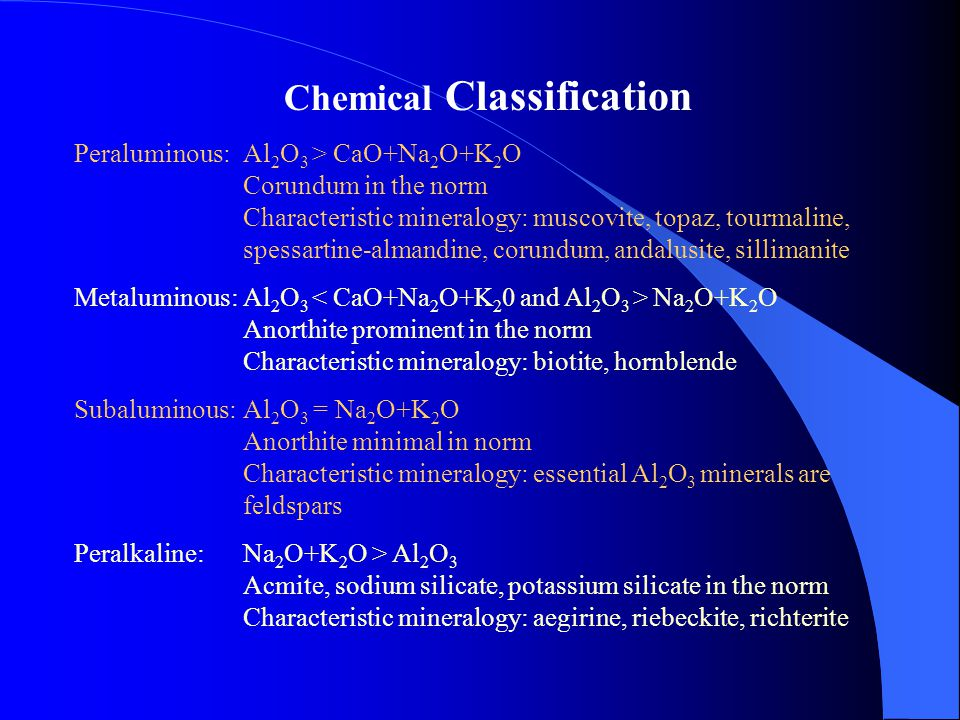 Chemical Classification