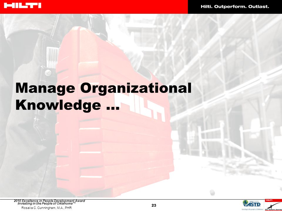 Manage Organizational Knowledge …