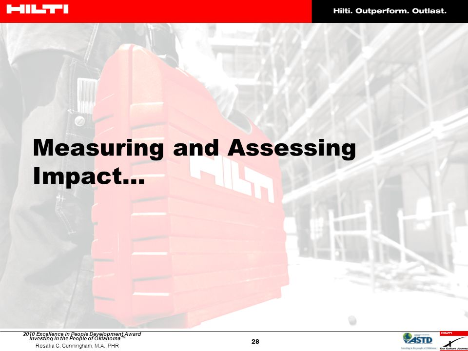 Measuring and Assessing Impact…