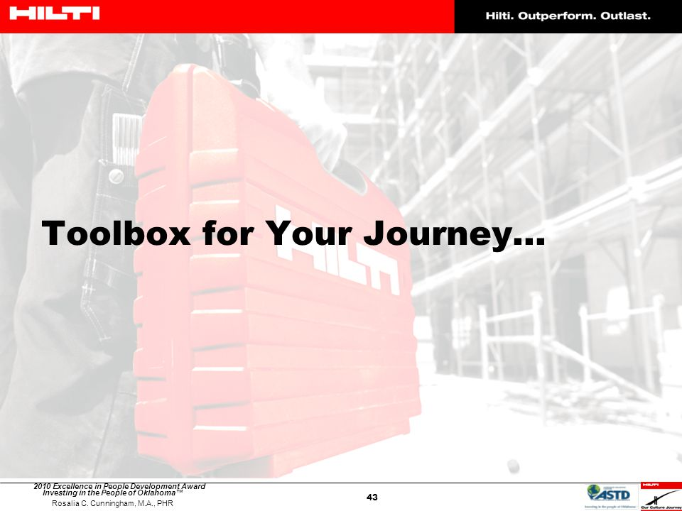 Toolbox for Your Journey…