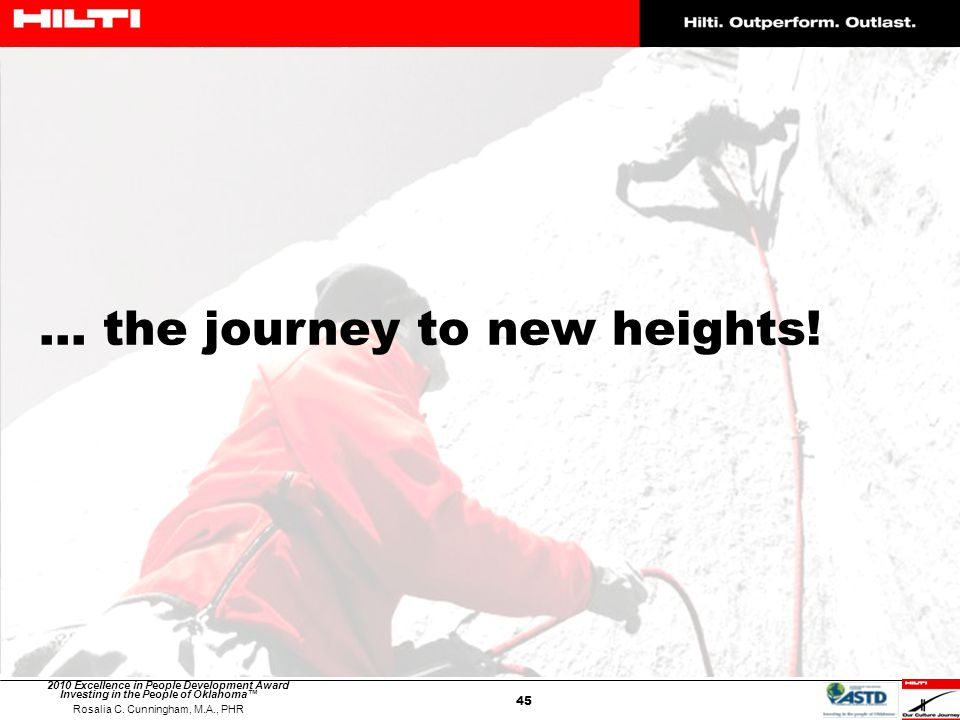 ... the journey to new heights!