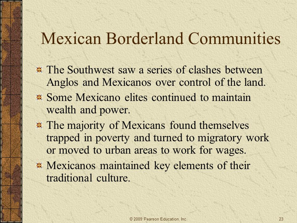 Mexican Borderland Communities