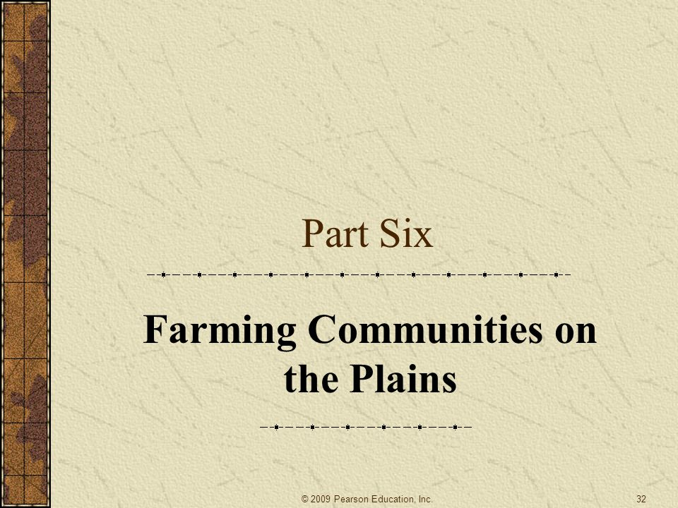 Farming Communities on the Plains