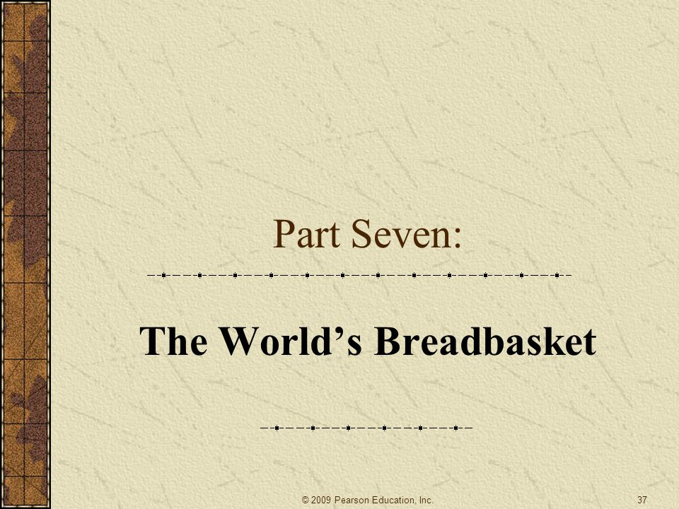 The World's Breadbasket