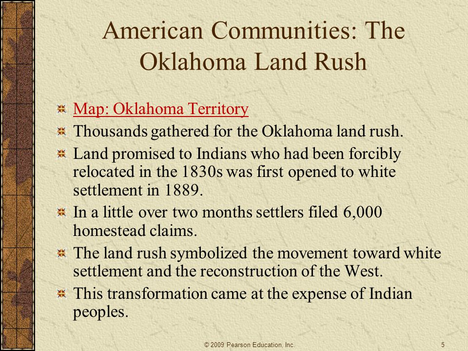 American Communities: The Oklahoma Land Rush