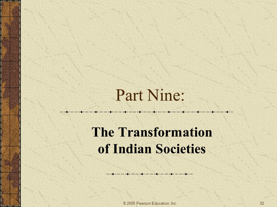 The Transformation of Indian Societies