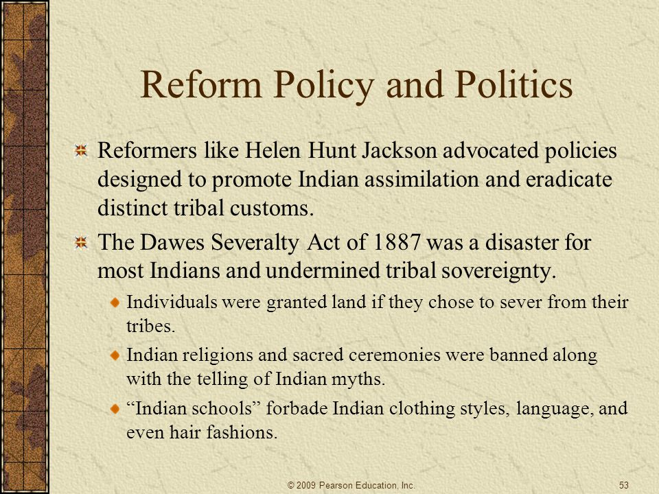 Reform Policy and Politics