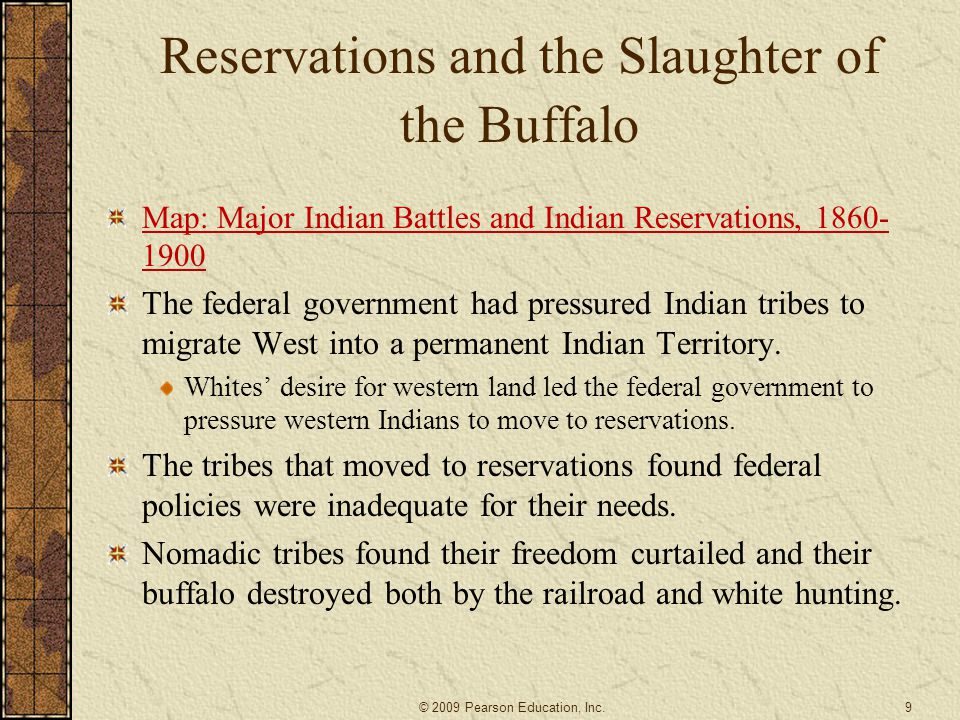 Reservations and the Slaughter of the Buffalo