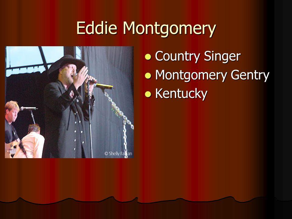 Eddie Montgomery Country Singer Montgomery Gentry Kentucky