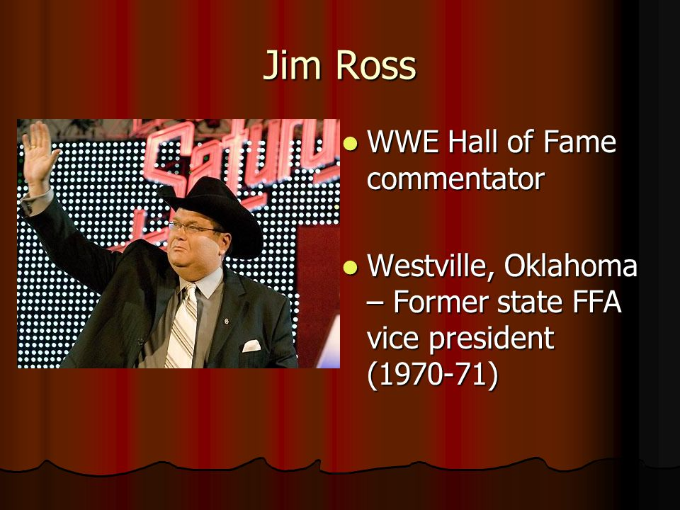 Jim Ross WWE Hall of Fame commentator
