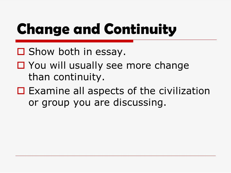 essay example 2 changes and
