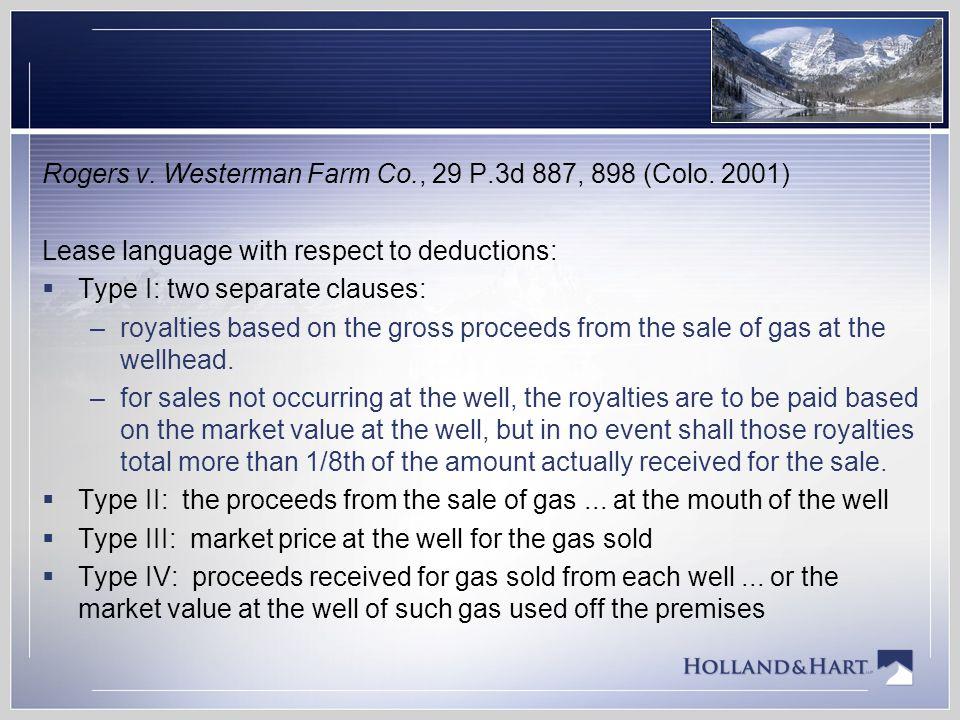 Rogers v. Westerman Farm Co., 29 P.3d 887, 898 (Colo. 2001)