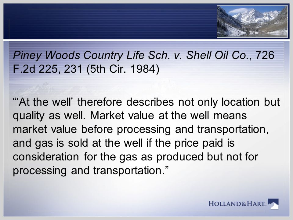 Piney Woods Country Life Sch. v. Shell Oil Co. , 726 F