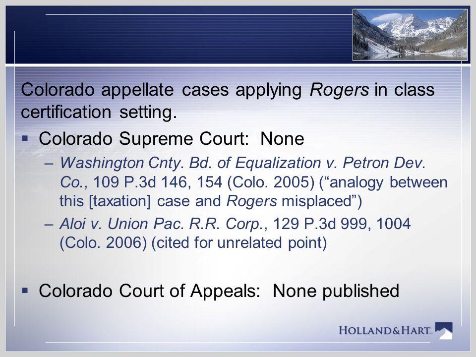 Colorado Supreme Court: None