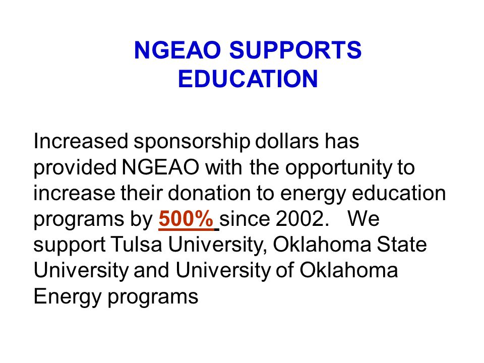 NGEAO SUPPORTS EDUCATION
