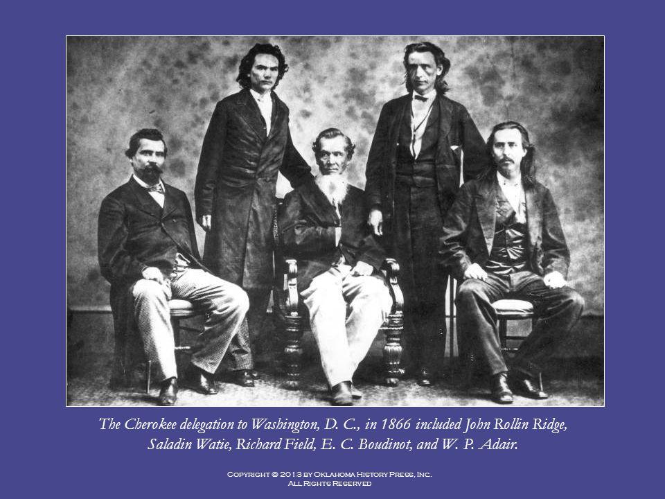 Saladin Watie, Richard Field, E. C. Boudinot, and W. P. Adair.