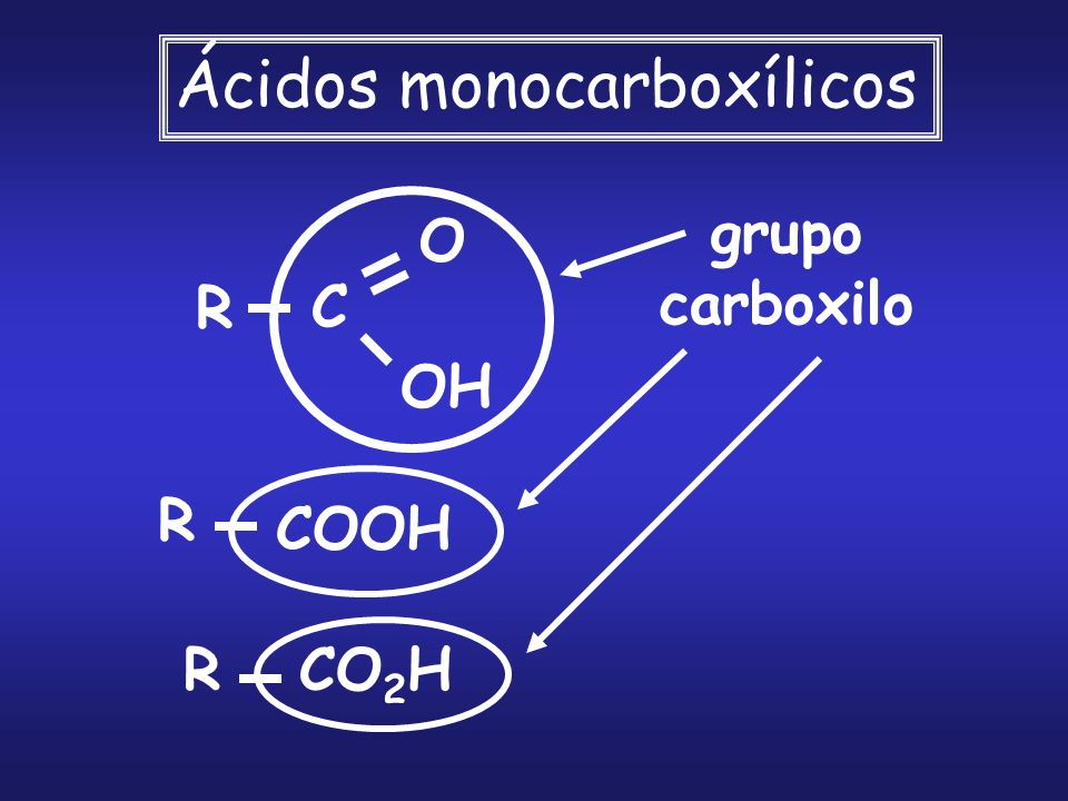 Ácidos monocarboxílicos