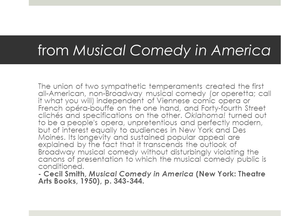 from Musical Comedy in America