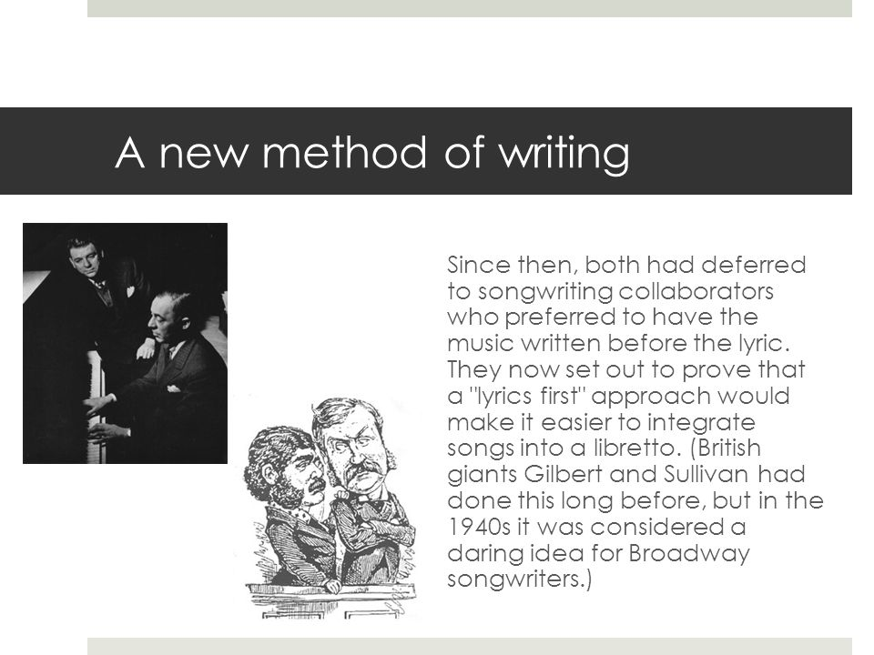 A new method of writing
