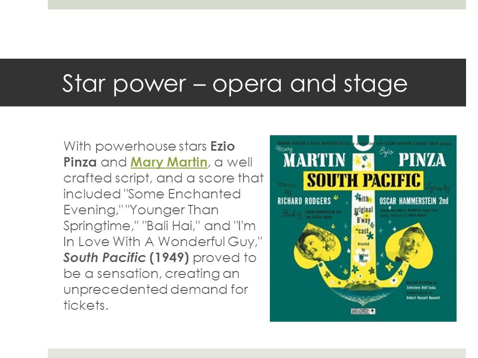 Star power – opera and stage