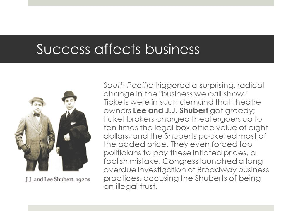 Success affects business