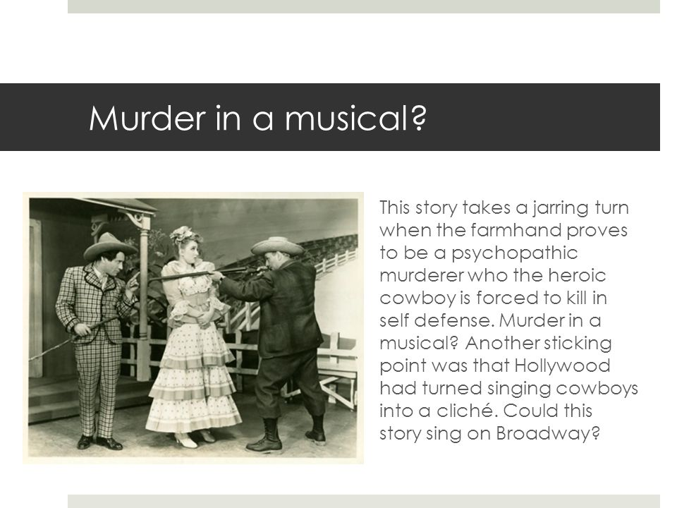 Murder in a musical